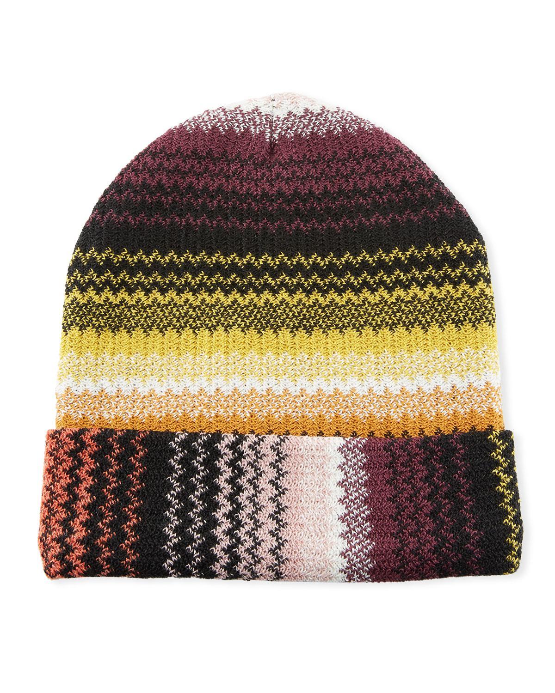 4e25f0a1d77 Missoni - Brown Zigzag Wool-blend Beanie Hat - Lyst. View fullscreen