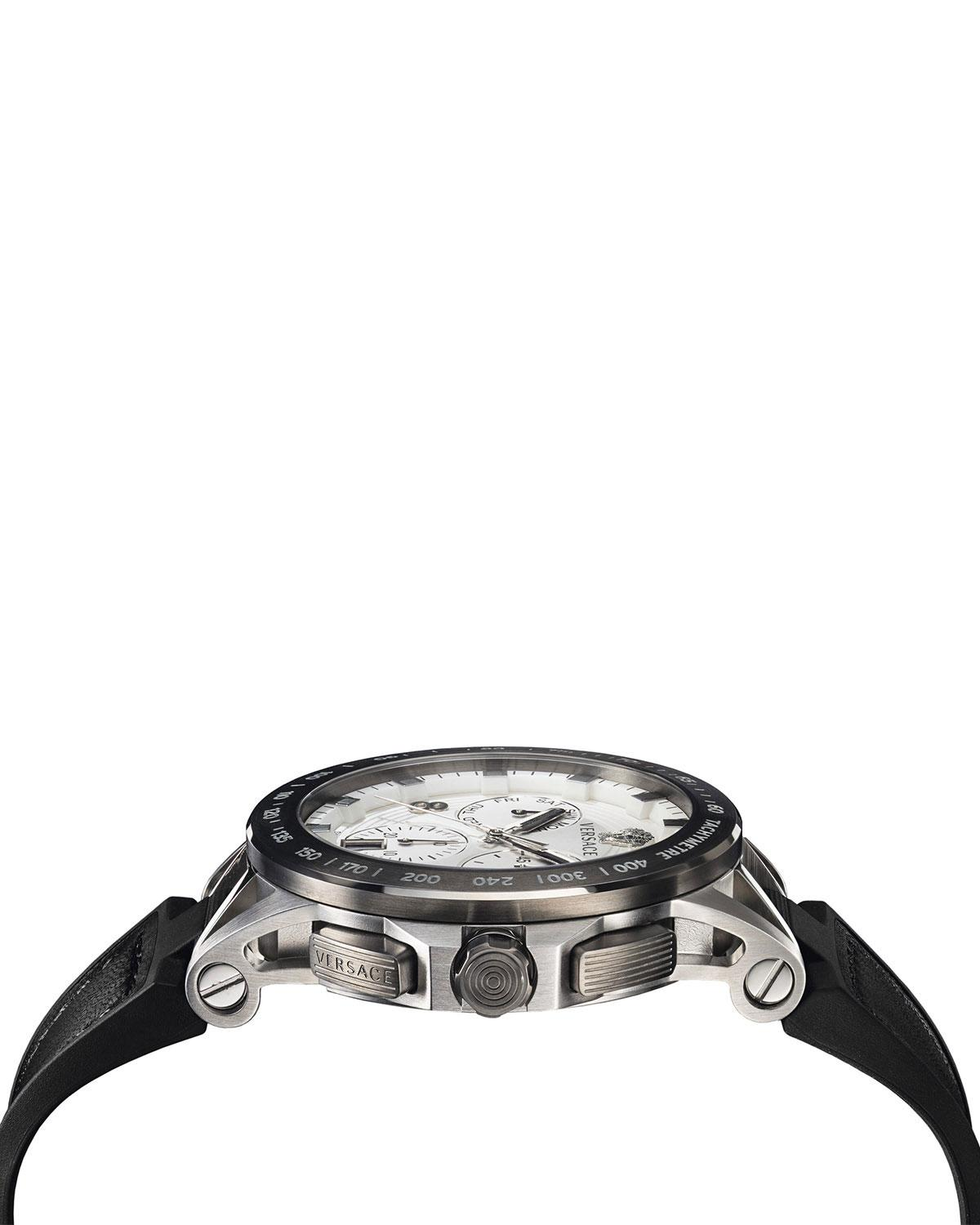 ce7fd6cb6a5b9 Versace Sport Tech Stainless Steel Leather & Rubber Strap Watch in ...