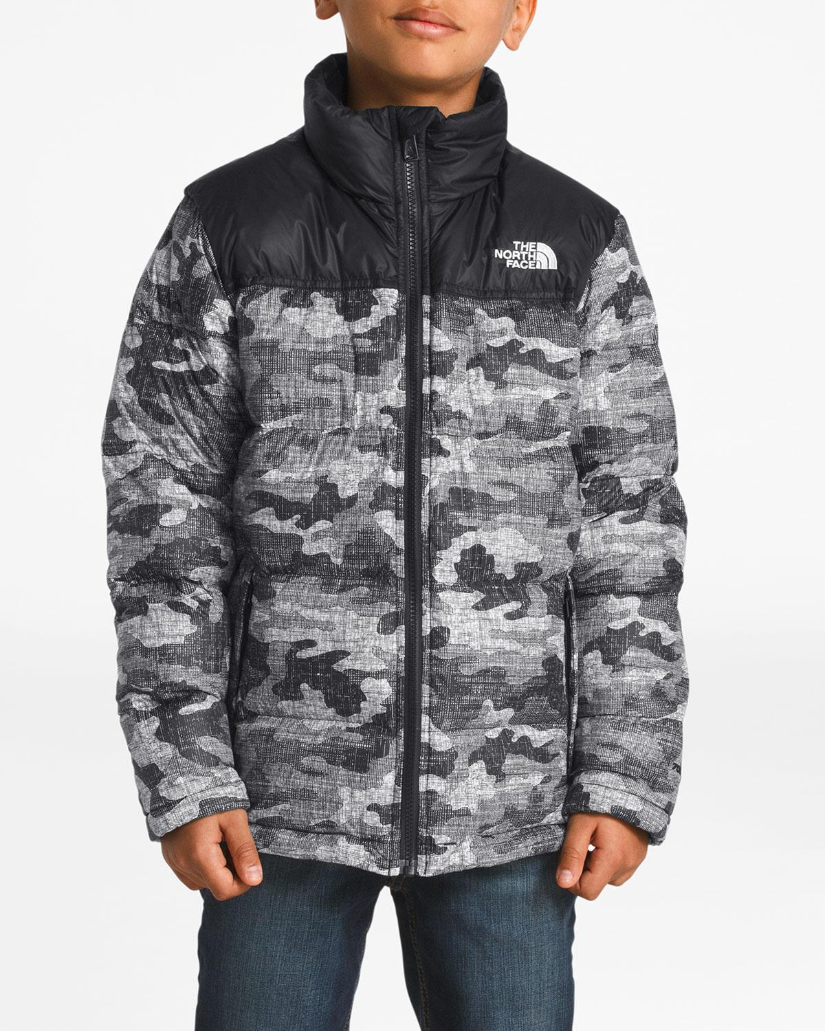 344d1e7ebc Lyst - The North Face Nuptse Camo-print Quilted Down Jacket in Black for Men