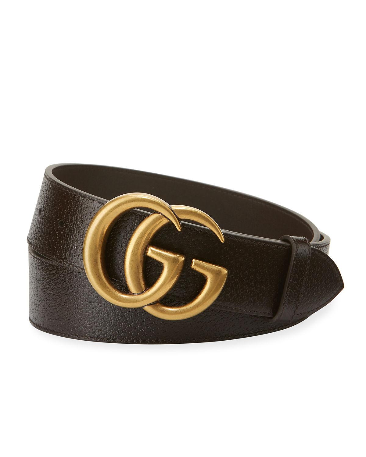 c9b10722d5f Lyst - Gucci Men s Leather Belt With Double-g Buckle in Brown