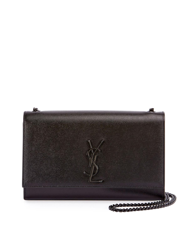 ad786e28f1 Lyst - Saint Laurent Monogram Kate Medium Chain Bag in Black