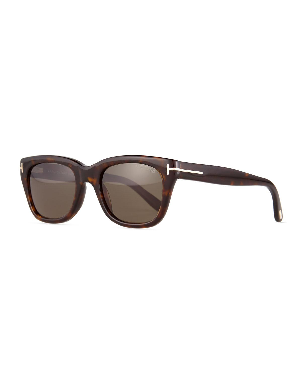92a202afd636 Lyst - Tom Ford Snowdon Shiny Acetate Sunglasses in Brown
