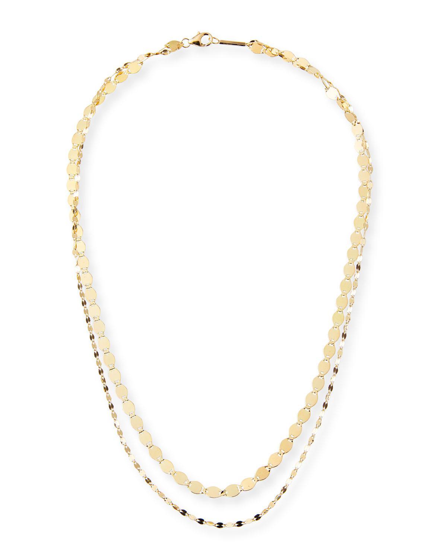 Lana Jewelry Bond Nude 14K Two-Strand Necklace AKmkjbU14S