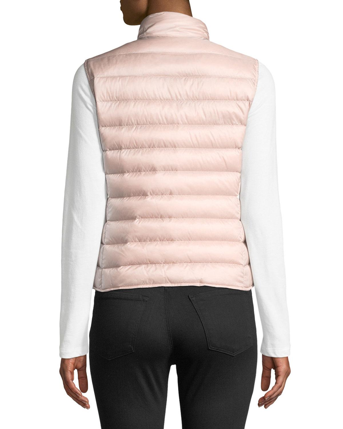 3842d2ab5 Moncler Liane Quilted Down Gilet in White - Lyst
