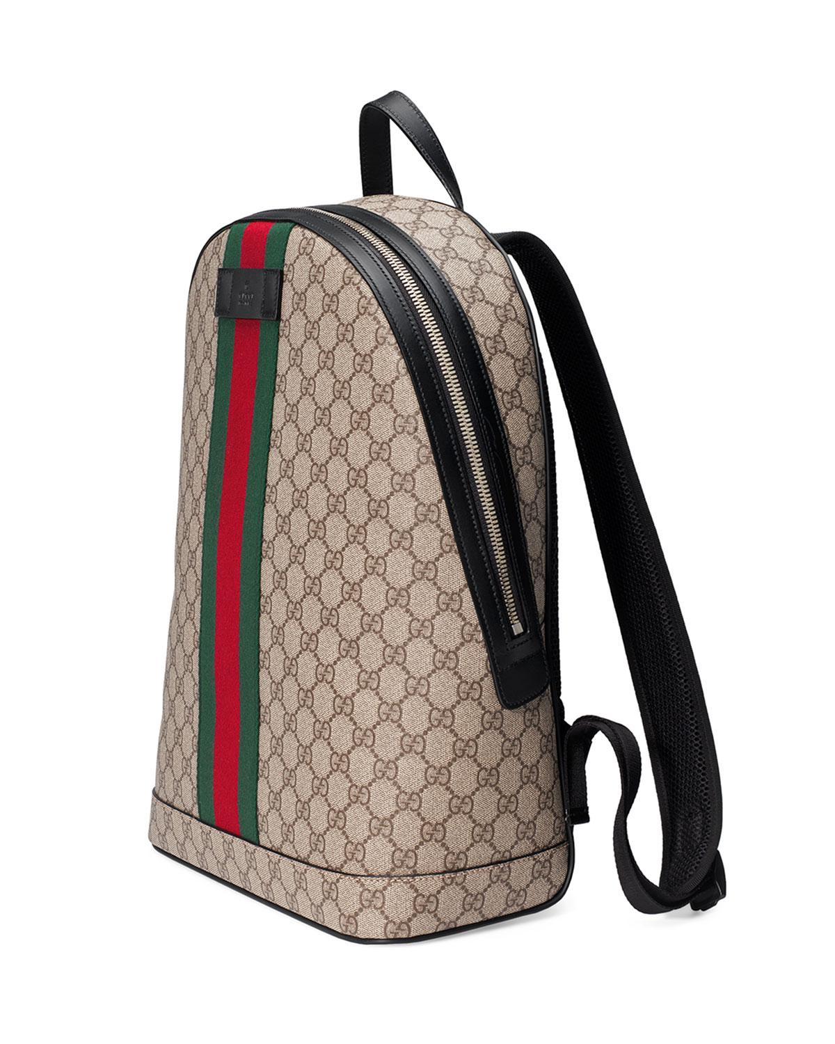 9f2be52d5b1 Gucci - Natural Men s Gg Supreme Web Backpack With Laptop Sleeve for Men -  Lyst