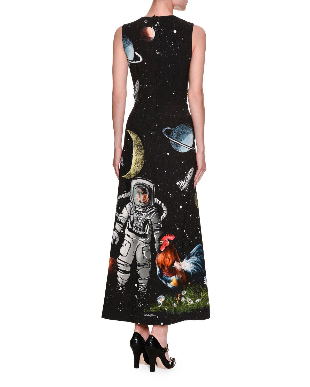 Dolce & Gabbana Woman Embroidered Point Desprit Maxi Dress Black Size 40 Dolce & Gabbana f94Kw87E