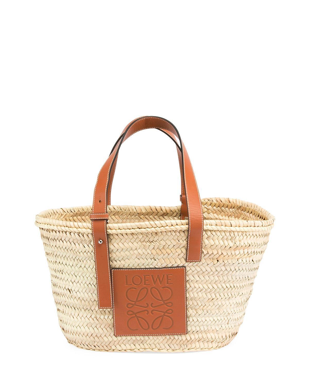 Lyst - Loewe Medium Raffia Basket Tote Bag in Brown - Save 16% 44fe1be71f457