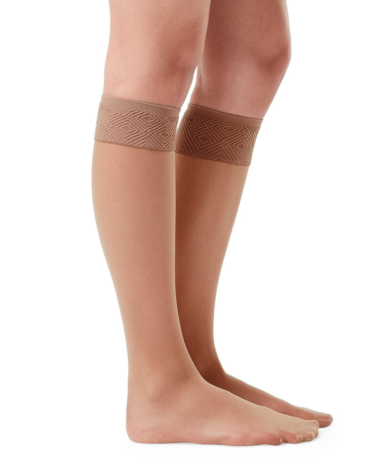 4f8f152d041 Lyst - Spanx Sheer Knee-high Stockings in Natural