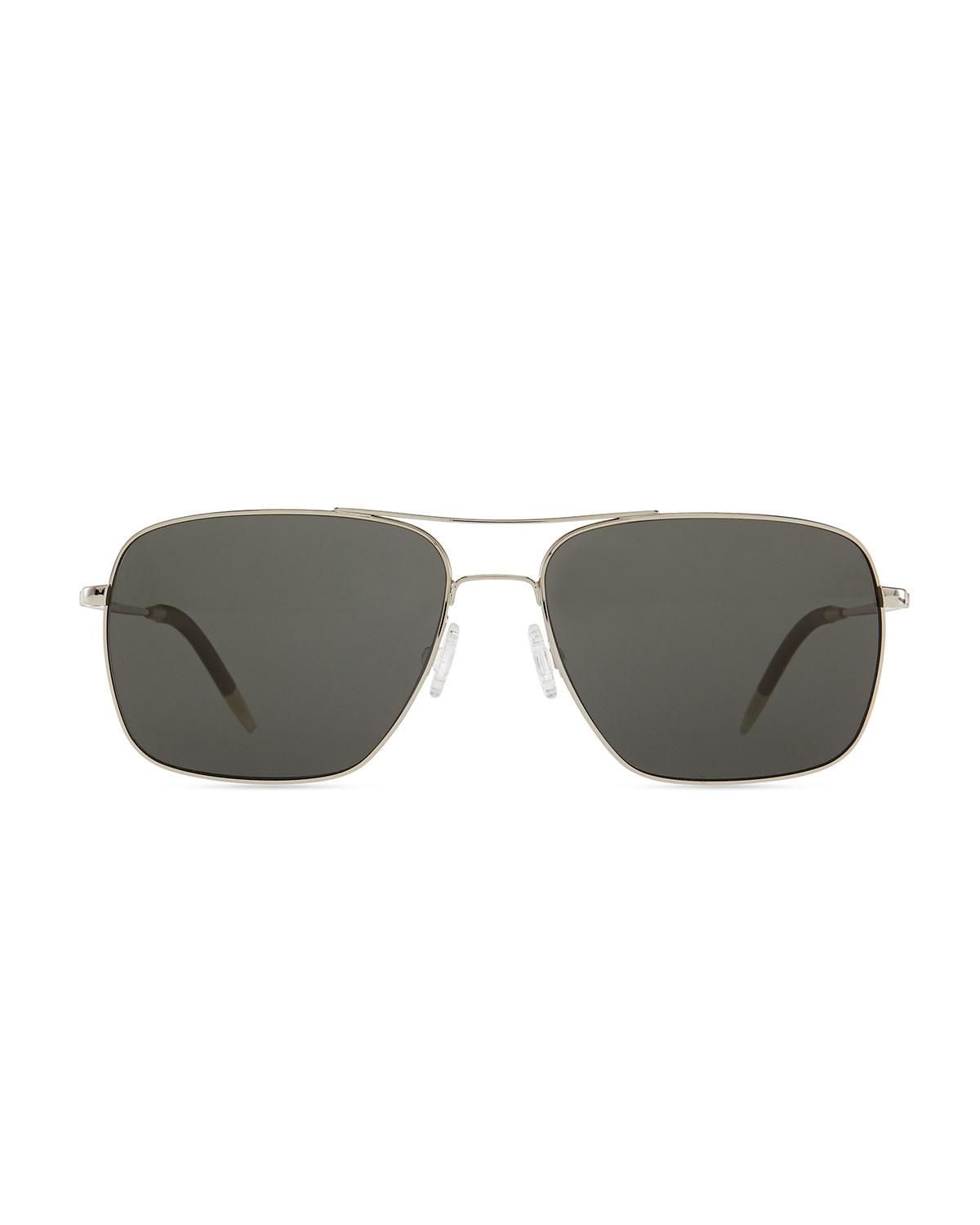 dd9003ebb20 Lyst - Oliver Peoples Clifton Polarized Sunglasses in Metallic for Men -  Save 10.0%