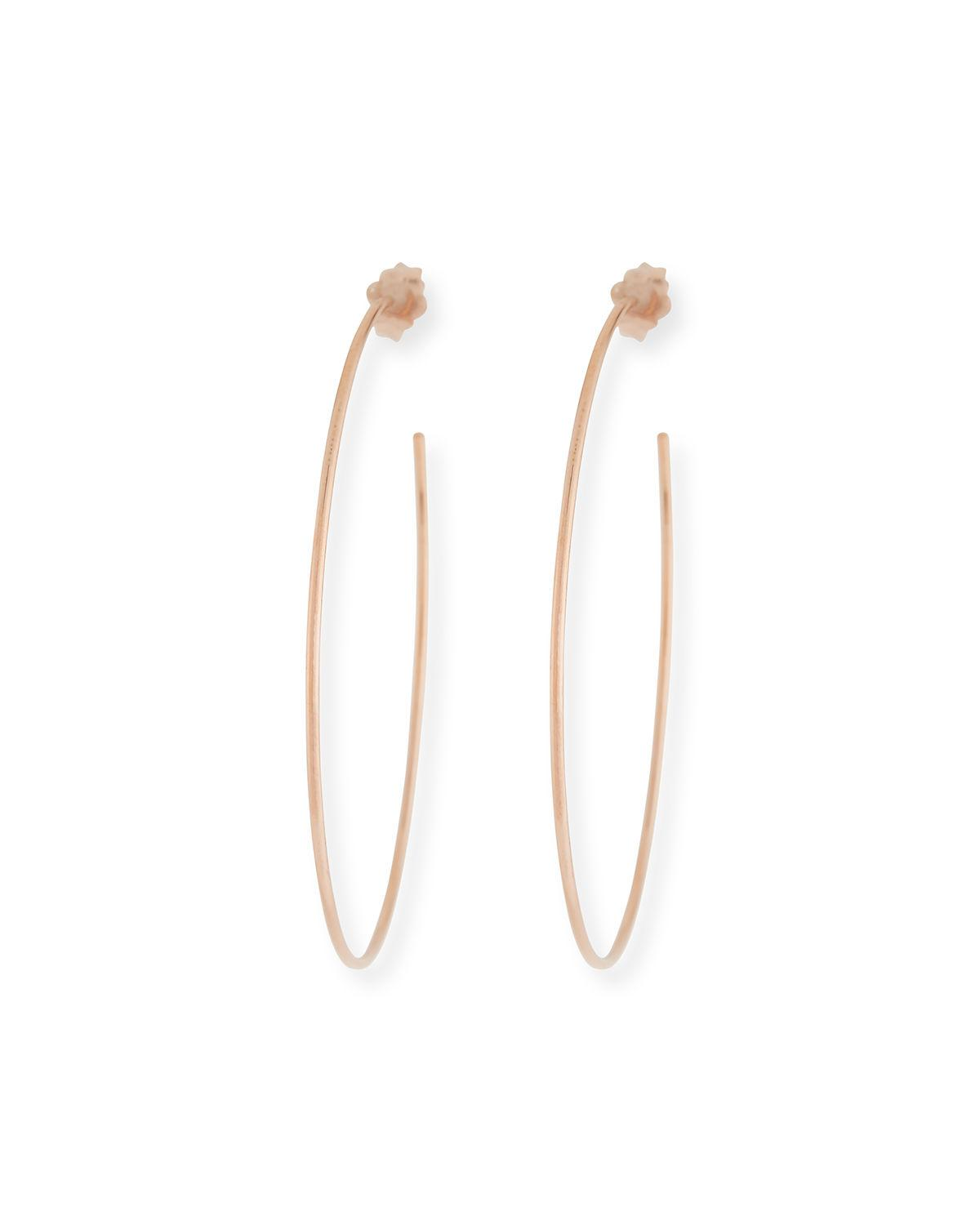 Lana Jewelry 14k Wire Hoop Earrings MKJpvEflOK