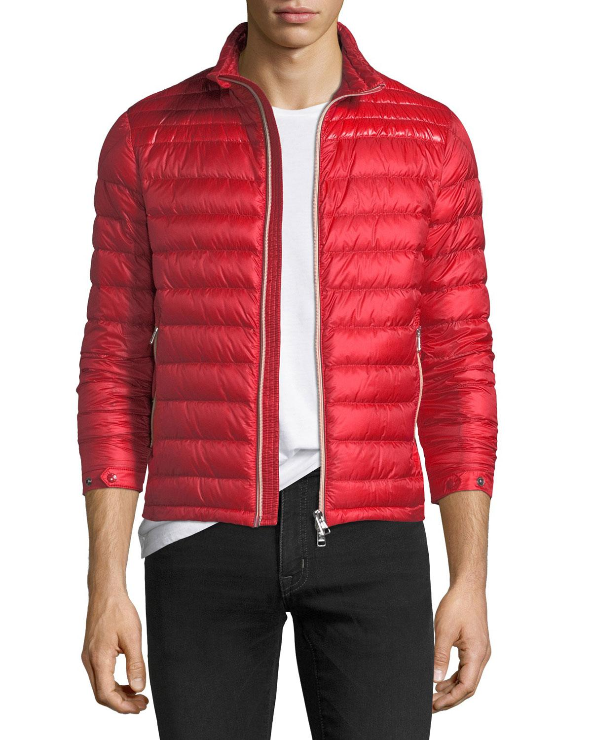 359882cb6392 Moncler Daniel Quilted Puffer Jacket in Red for Men - Lyst