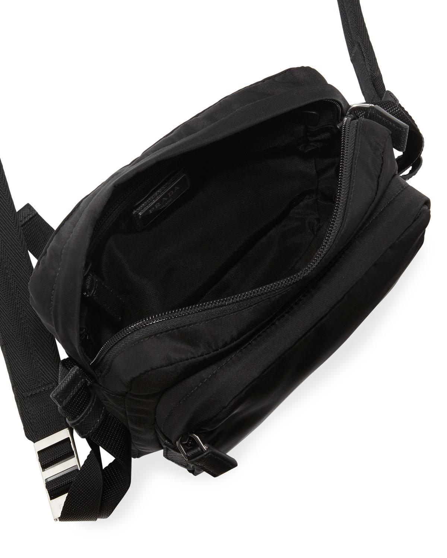 Lyst - Prada Men s Nylon Crossbody Bag in Black for Men 3f69c35fbaa53
