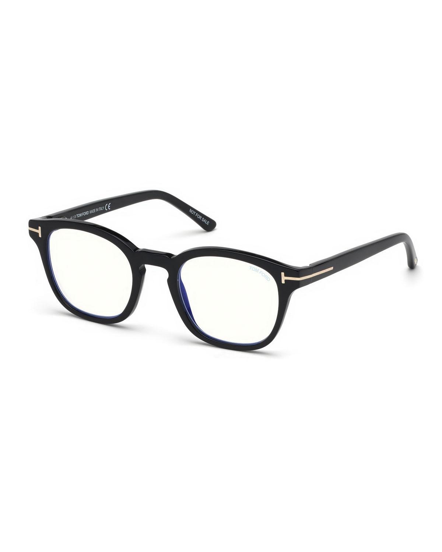 6076e3ef0955 Lyst - Tom Ford Men s Square Optical Glasses W  Clip On Blue Block Lenses  in Blue