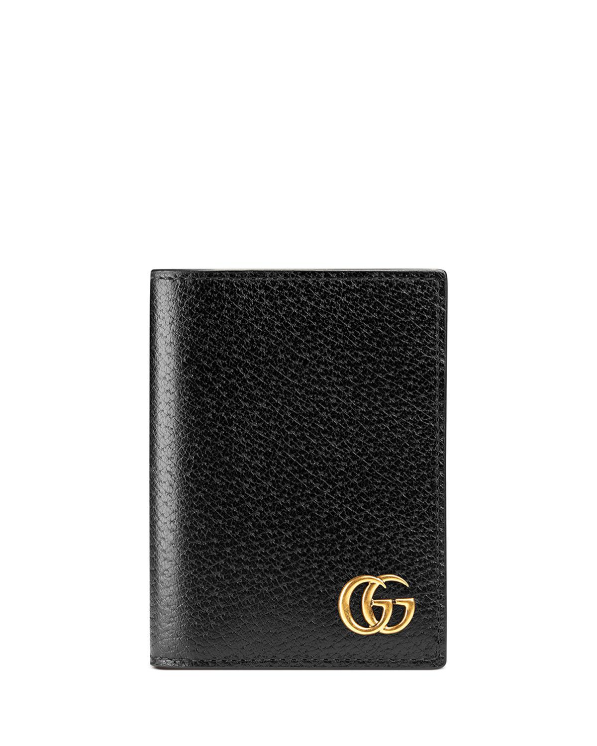 9424695b94a5ec Gucci GG Marmont Leather Fold-over Card Case in Brown for Men - Lyst