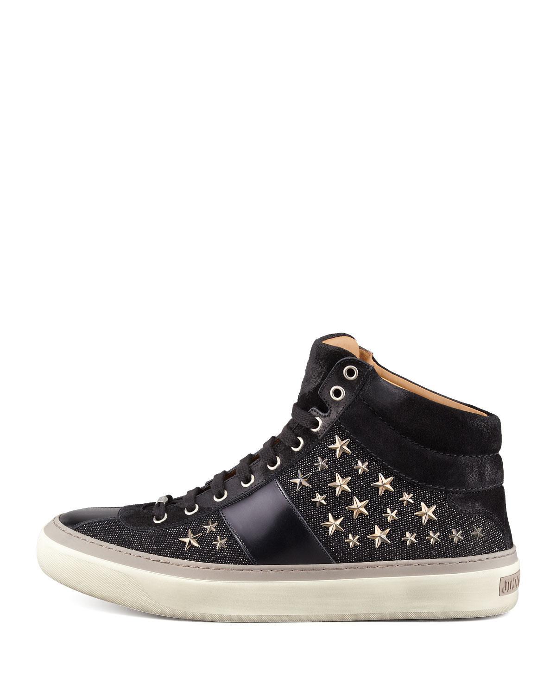 Argyle high-top stud-embellished leather trainers Jimmy Choo London Shop Online 84Dx6n9Oz