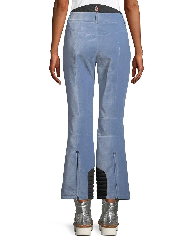 Lyst - Moncler Grenoble Velvet Pants W  Zip Pockets in Blue 3c0bae7bf