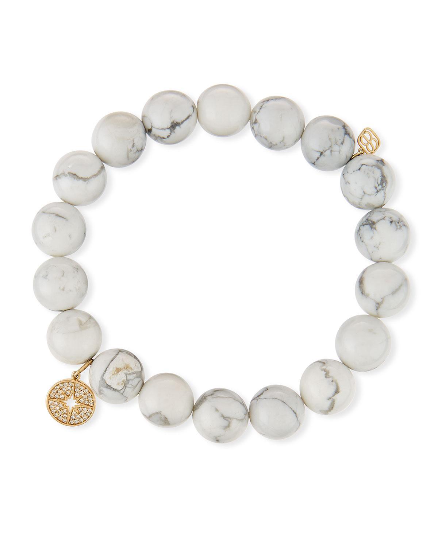 Sydney Evan 14k Agate Beaded Stretch Bracelet w/ Turquoise Horn 1BCNQML4hp