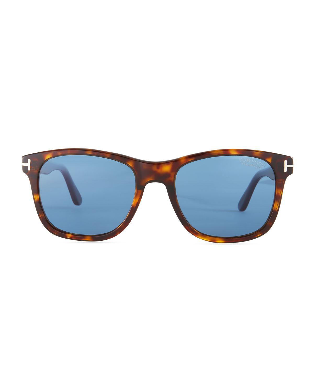 c7a78cb9f2 Tom Ford Eric Rectangular Havana Sunglasses in Blue for Men - Lyst