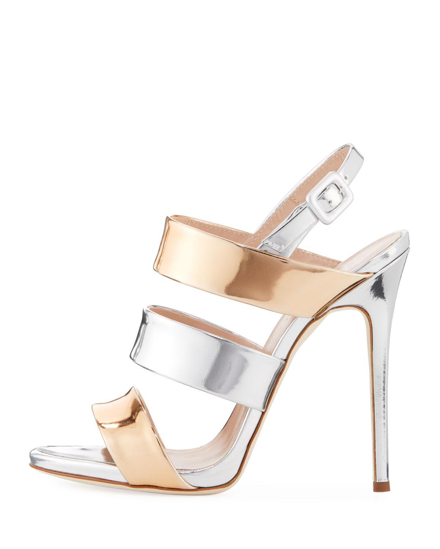 8640eb981c42 Lyst - Giuseppe Zanotti Two-tone Metallic 120mm Sandal