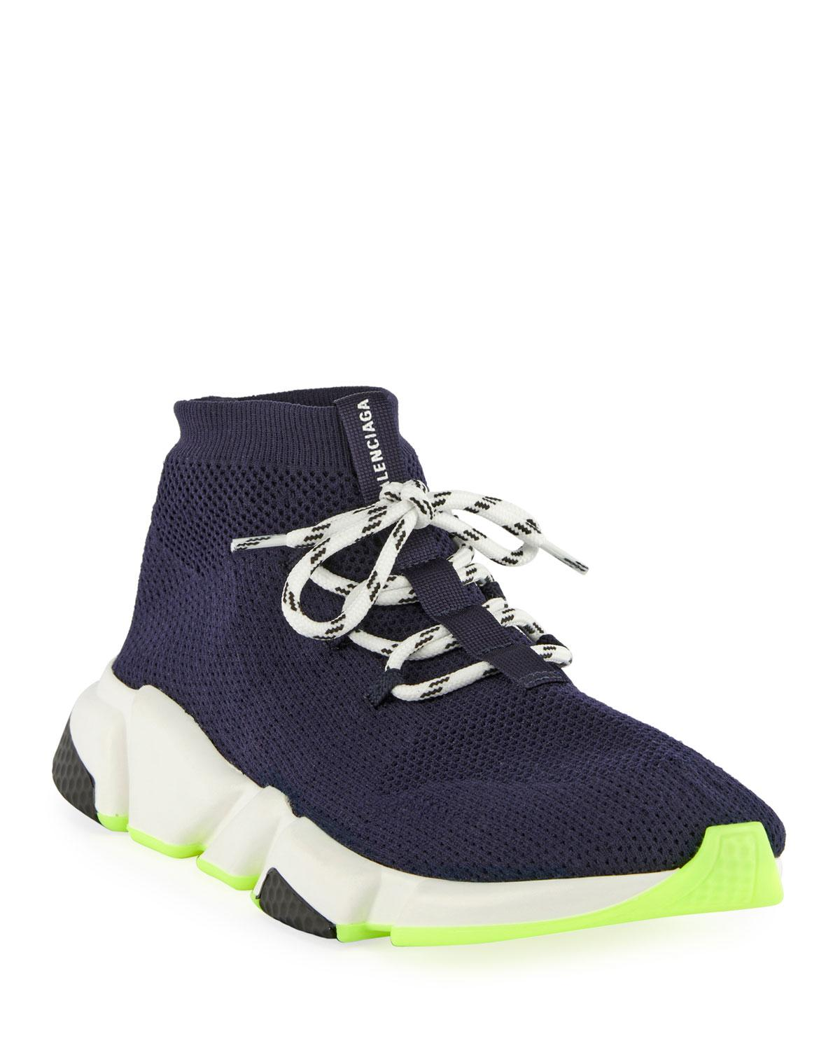 8f1defed7b1a4 Lyst - Balenciaga Atlantic Blue Speed Fabric Sneakers in Blue for ...