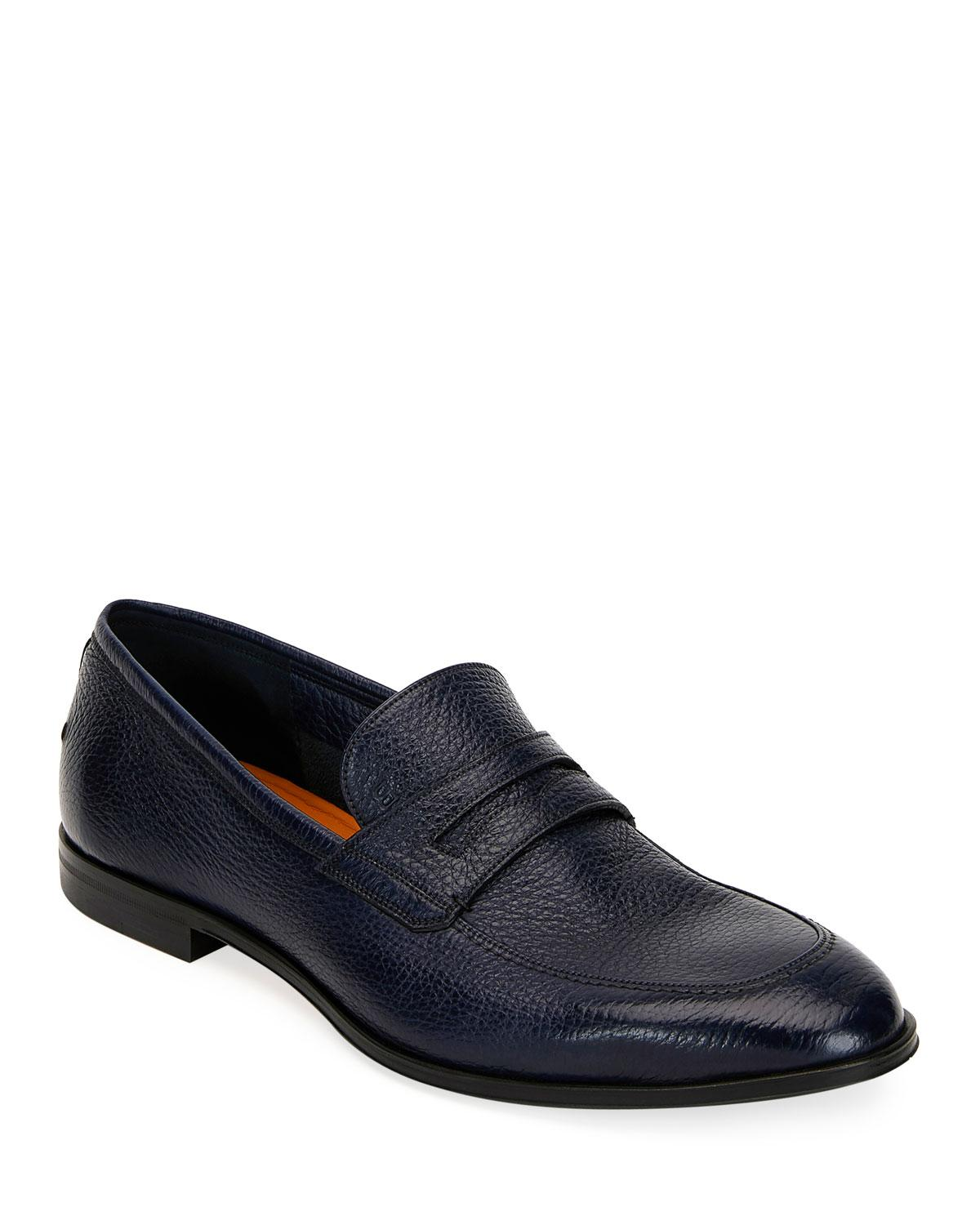 5d4c155a2 Lyst - Bally Men s Webb Leather Penny Loafers Dark Blue in Blue for Men