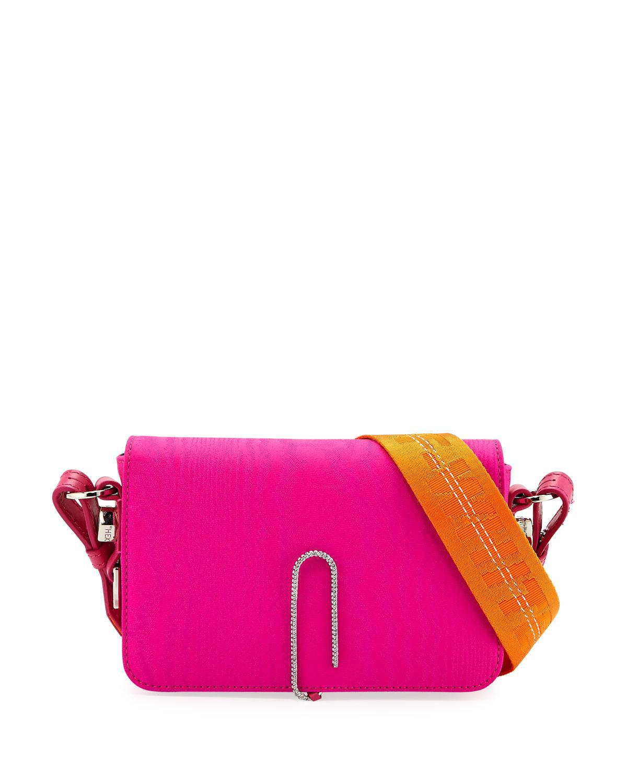 Moire mini flap bag Off-white NRRtnW