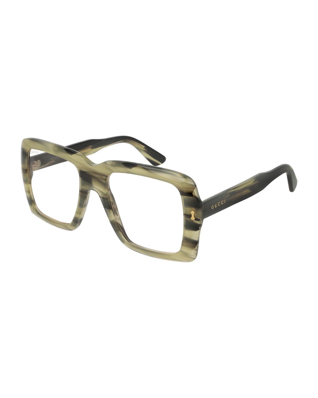 1050e1e66de Lyst - Gucci 53mm Unisex Square Sunglasses in Brown