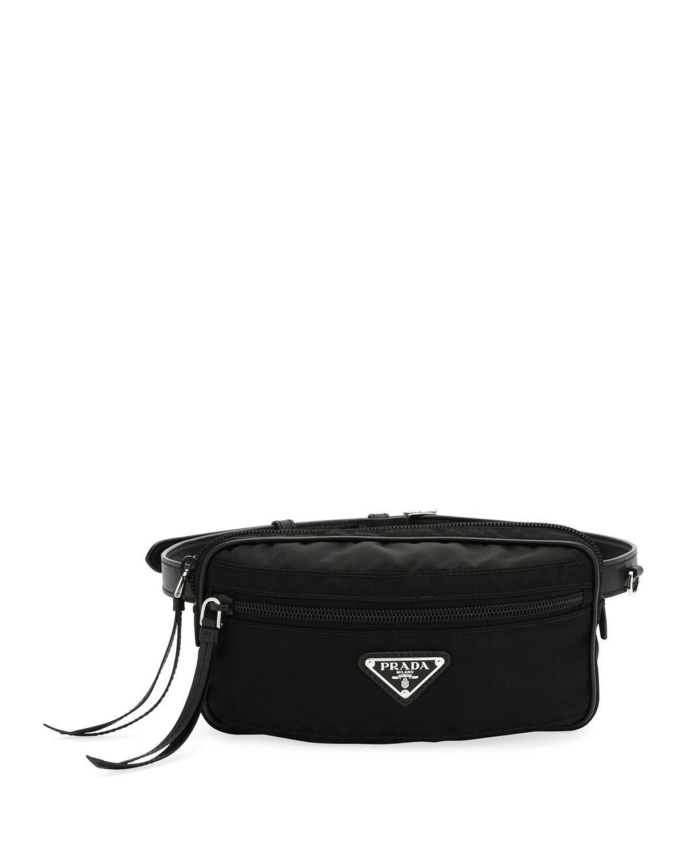 Lyst - Prada Nylon Belt Bag in Black ff37ea2488278