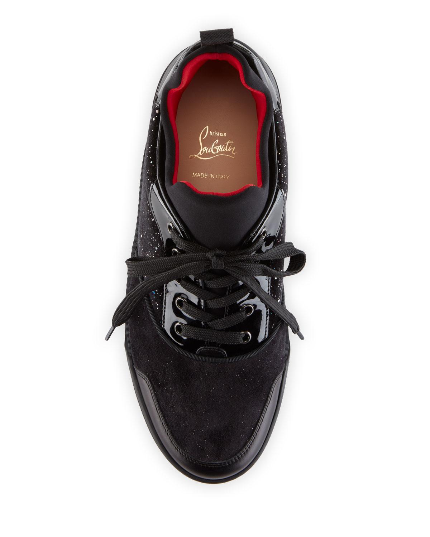 e5d6021a79cc Christian Louboutin Men s Aurelien Multimedia Low-top Sneaker in Black for  Men - Lyst