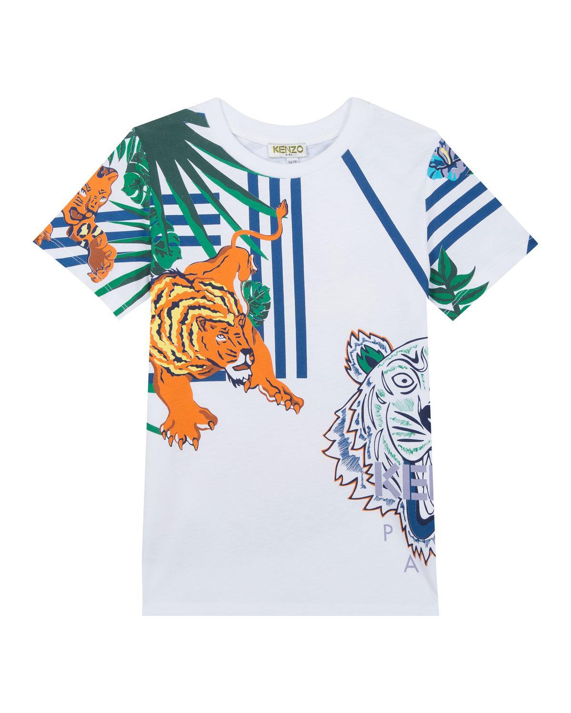 b7c76bc2 KENZO - White Multi-icon Graphic T-shirt for Men - Lyst. View fullscreen