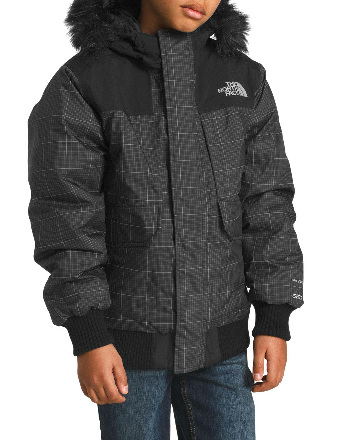 Lyst - The North Face Gotham Down Hooded Grid Jacket W  Faux-fur Trim in  Black for Men 3c5c38243