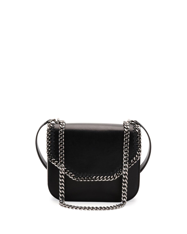 615063a99f7 Lyst - Stella McCartney Falabella Box Bird Shoulder Bag in Black ...