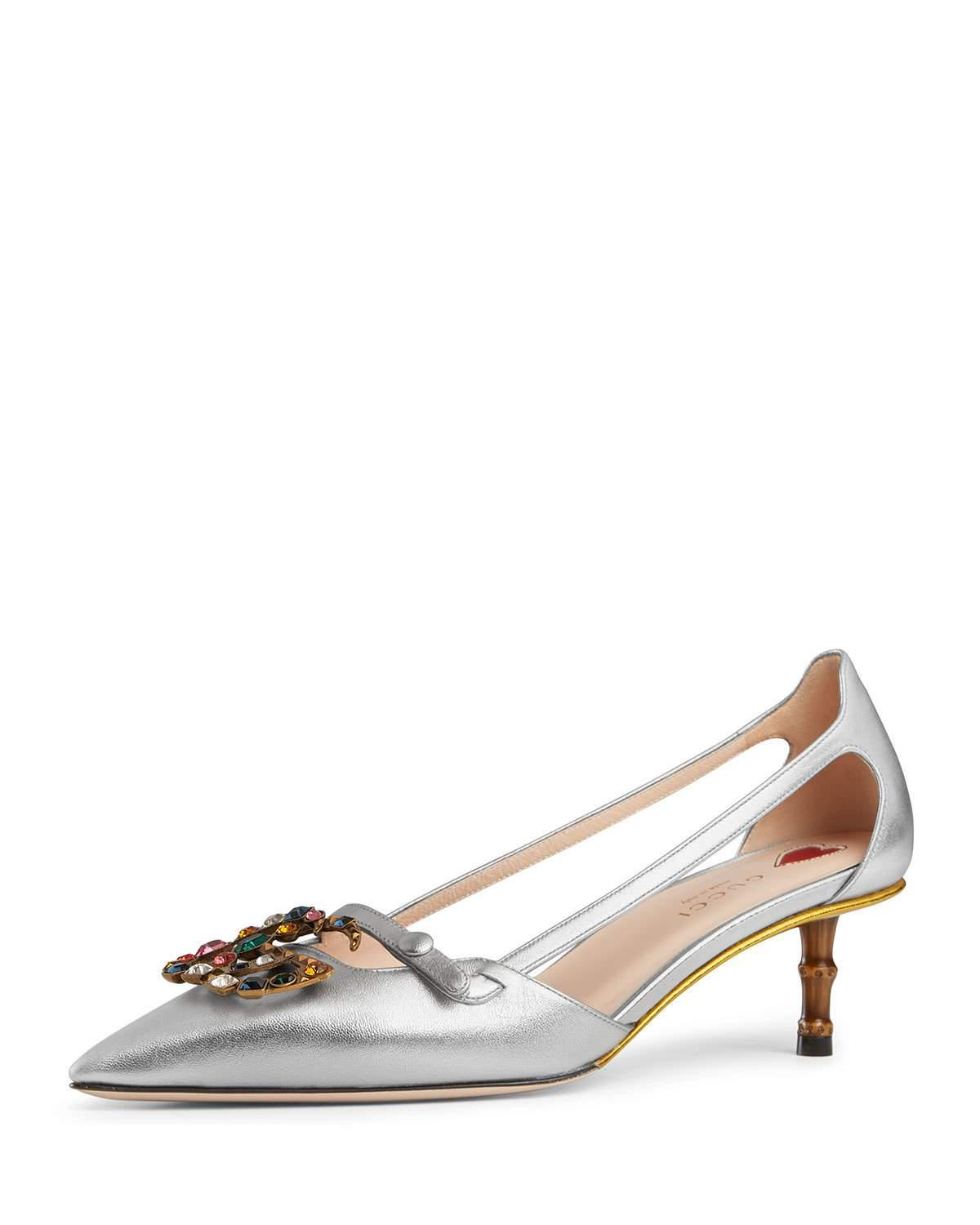 Womens Unia Metallic Leather Pumps Gucci Dy8PUY3fAe