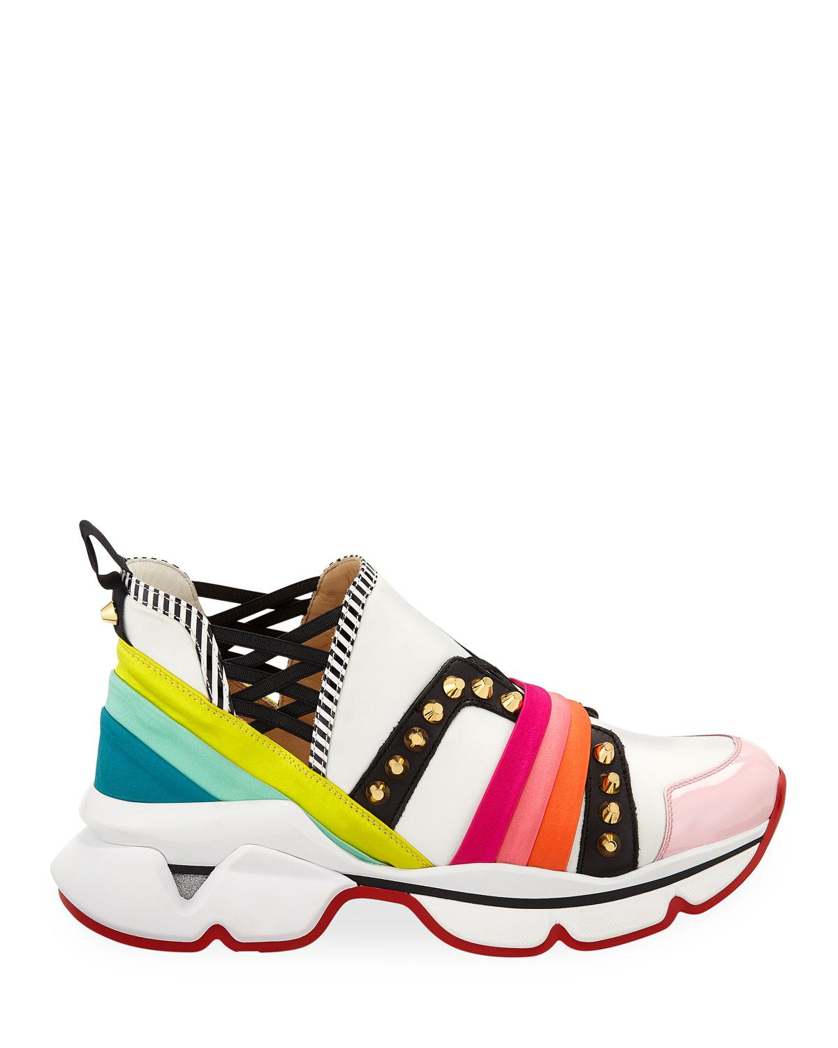 new arrival a05a1 2ce79 Christian Louboutin 123 Run Rainbow Red Sole Sneakers in Red - Lyst
