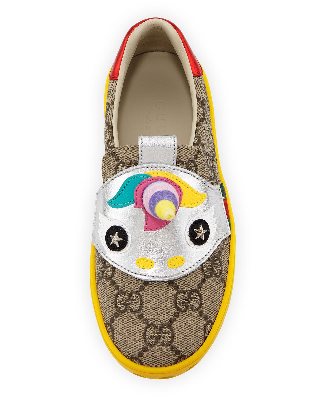 e0a322d8d7570 Lyst - Gucci Gg Supreme Canvas Sneaker W  Unicorn in Natural for Men