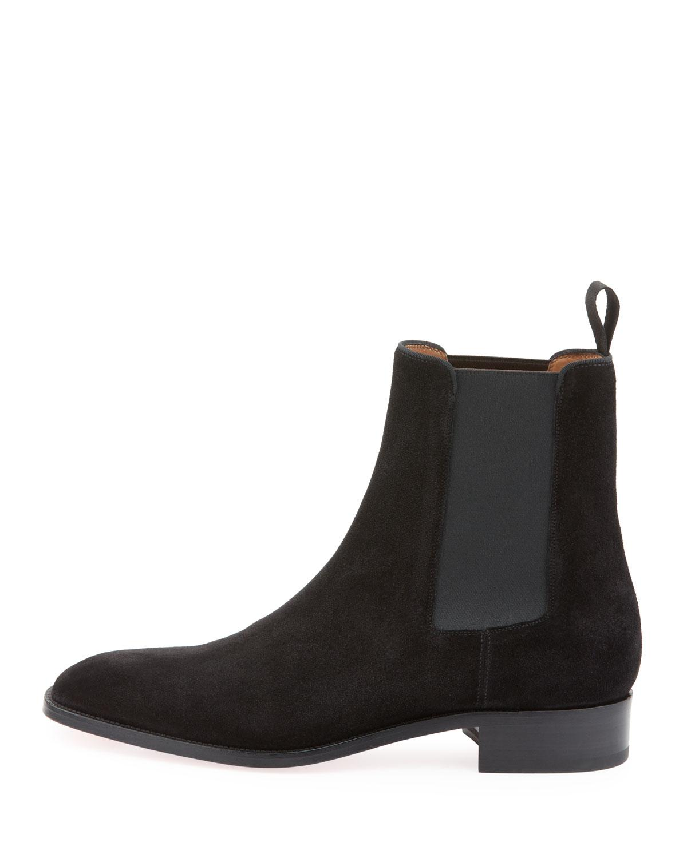 69351ea43015 Lyst - Christian Louboutin Men s Samson Suede Boot in Black for Men - Save  20%