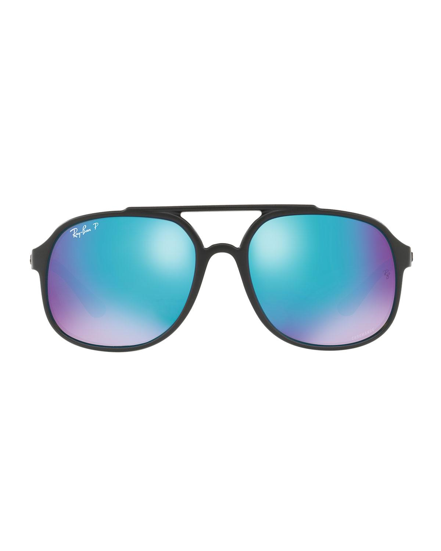 7d521d12237 Lyst - Ray-Ban Men s Rb4312 Aviator Propionate Sunglasses in Black for Men