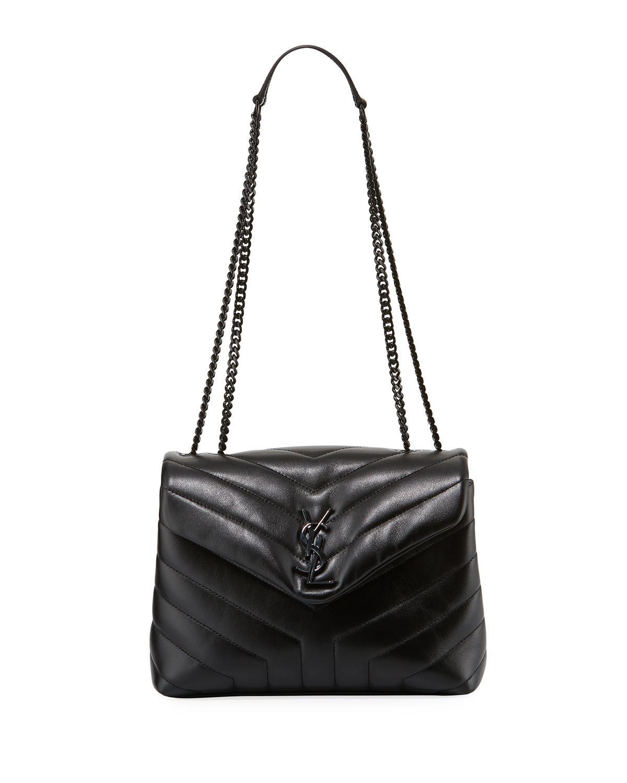 Saint Laurent. Women s Black Monogram Ysl Loulou Small Chain Shoulder Bag 847b3aa4e1faf