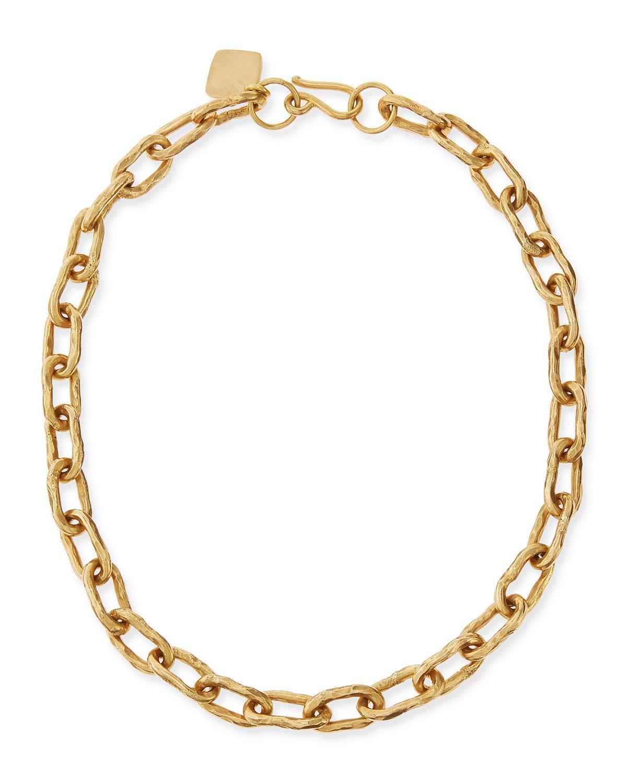 Ashley Pittman Bila Hammered Bronze Link Choker Necklace 6qanYcM