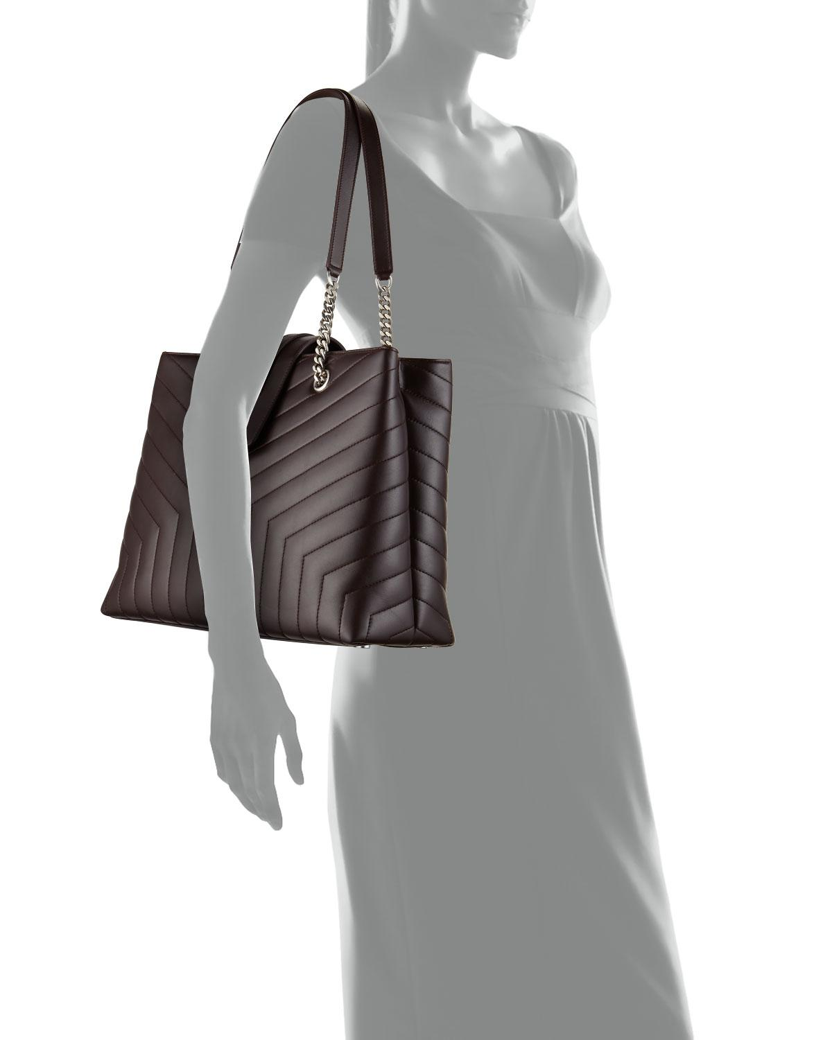 ... Loulou Monogram Ysl Large Quilted Shoulder Tote Bag - Nickel Oxide  Hardware. View fullscreen a5bf7fe098