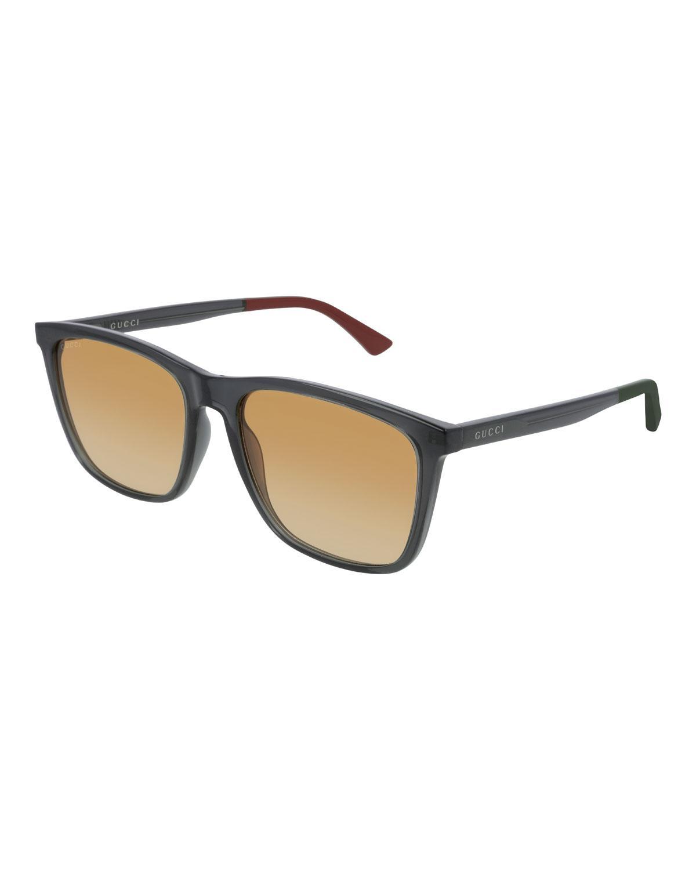 0bfa6e72e7f Gucci - Gray Men s GG0404S012M Injection Sunglasses - Gradient for Men -  Lyst. View fullscreen