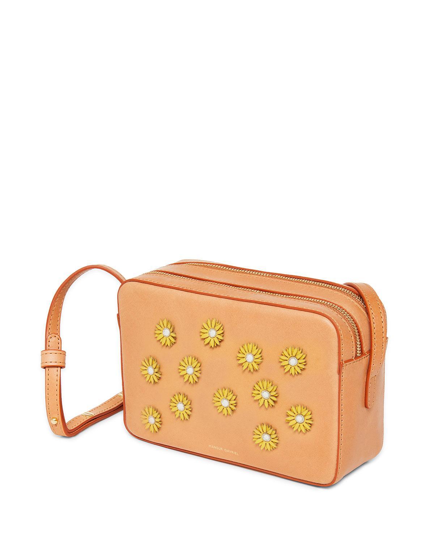 Mansur Gavriel Floral-embellished Crossbody Bag - Lyst b67388226f311