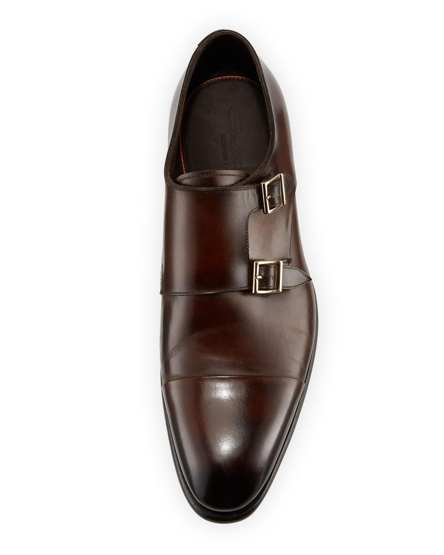 9c281c6fa8caad Lyst - Santoni Carter Double-monk Shoe in Brown for Men