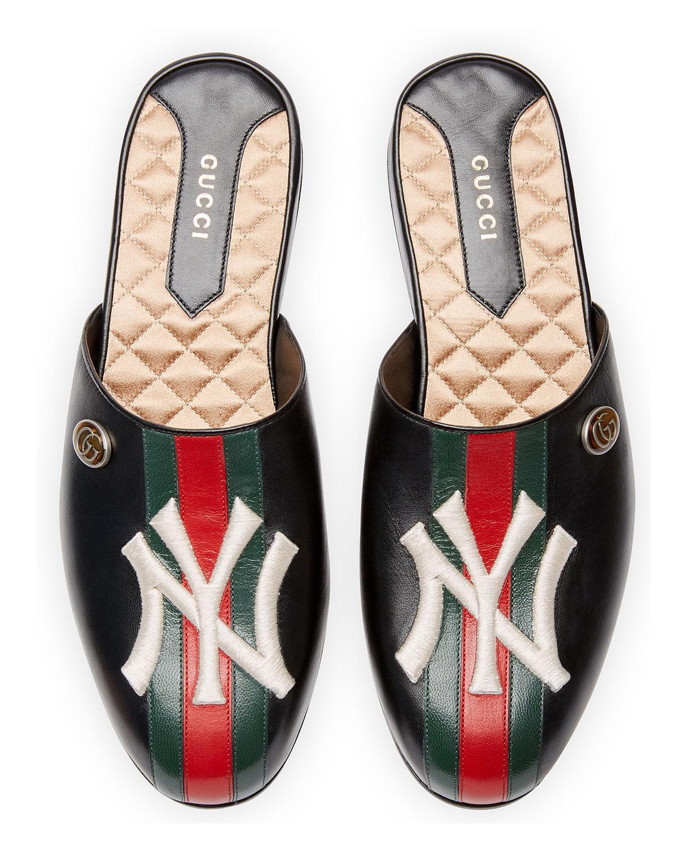e894f4489c2 Gucci Flamel New York Mule in Black - Lyst
