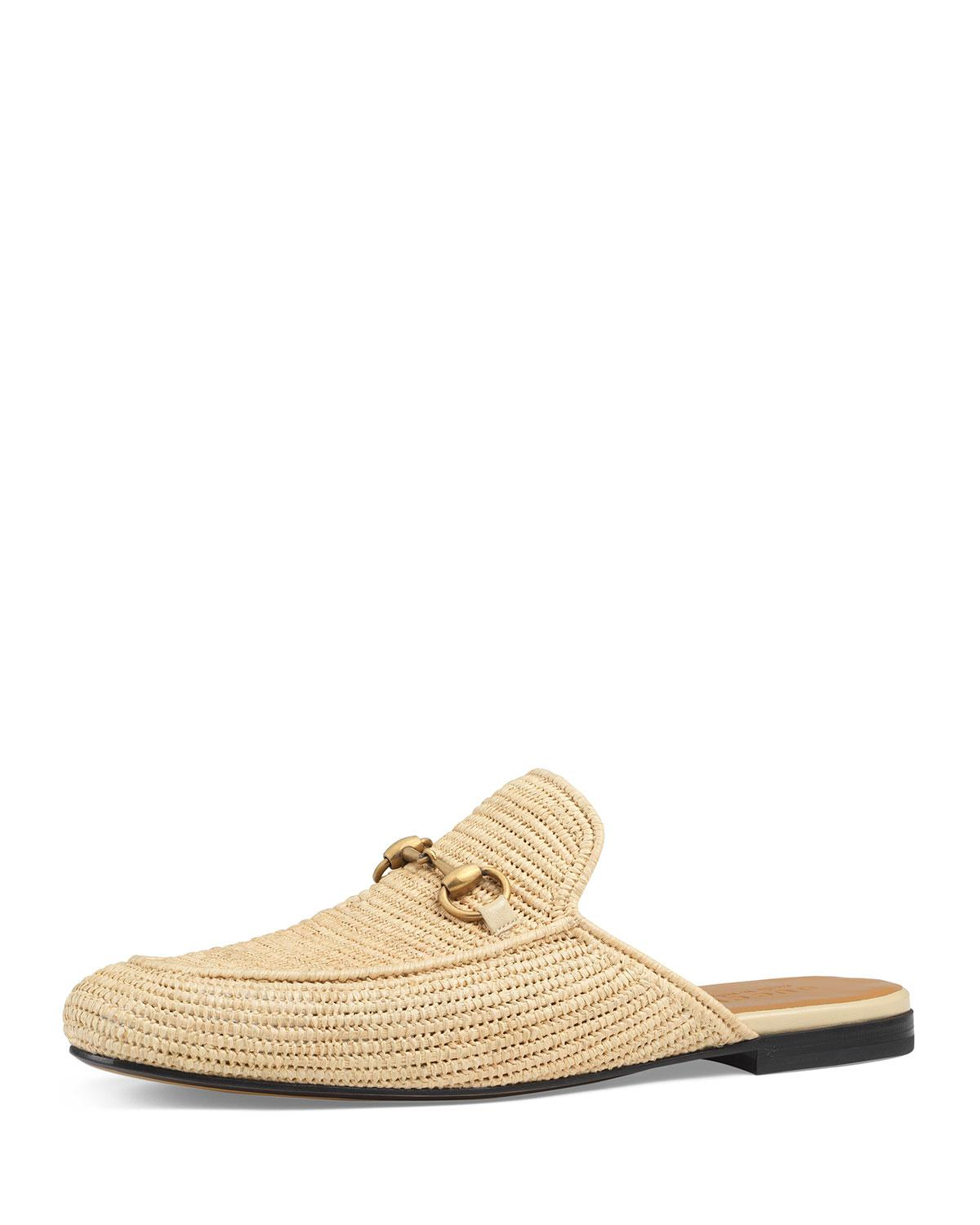 e856bccfcac Gucci Straw Princetown Slipper in Natural for Men - Save 60% - Lyst