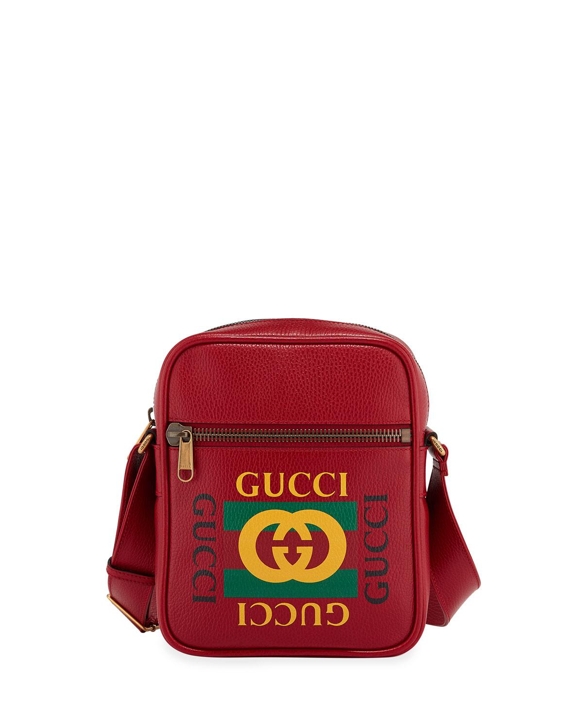 1dade3b43aa Gucci - Red Men s Retro Leather Crossbody Bag for Men - Lyst. View  fullscreen