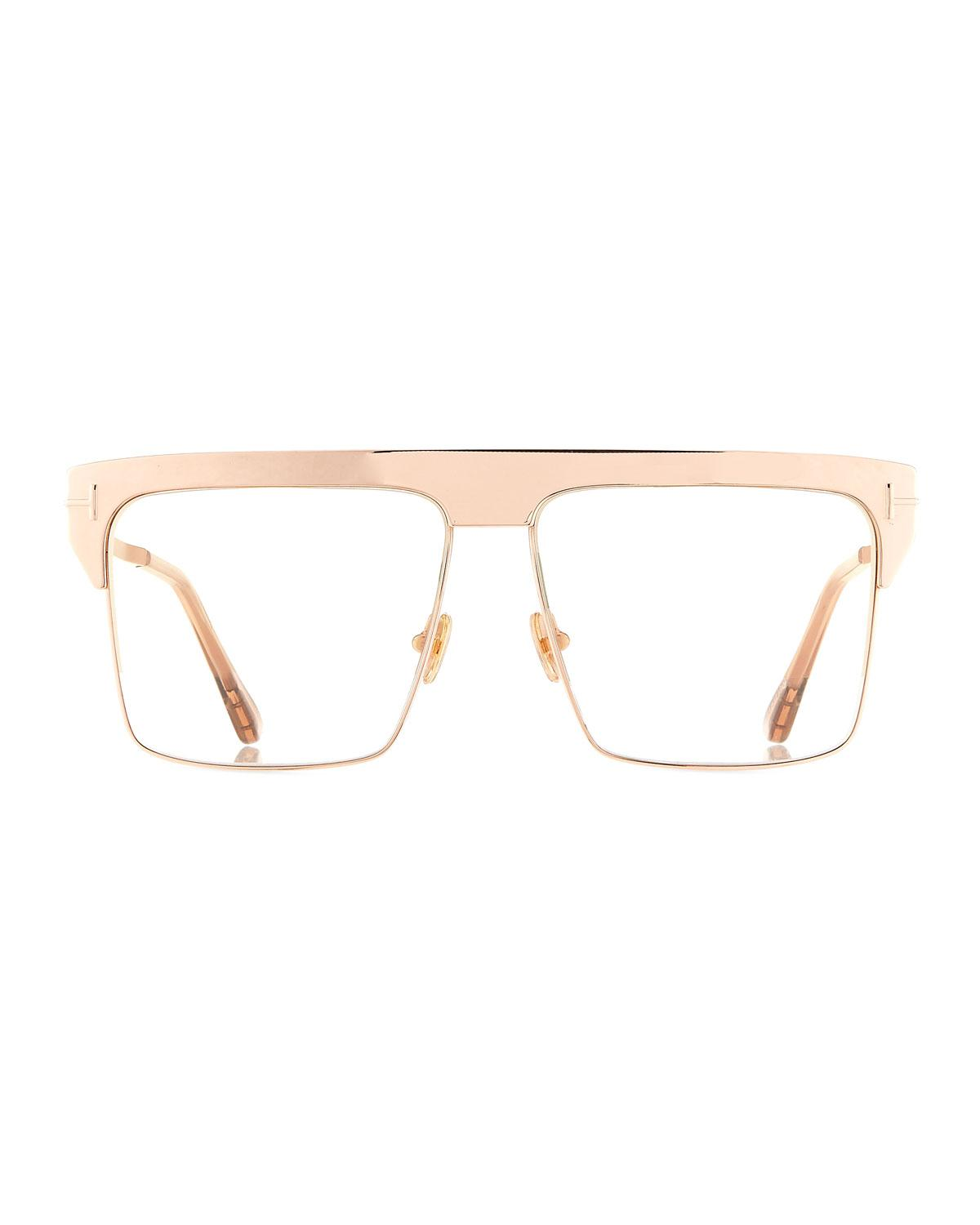 61b53488ec23 Lyst - Tom Ford Men s West Two-tone Mirrored Square Sunglasses in Pink