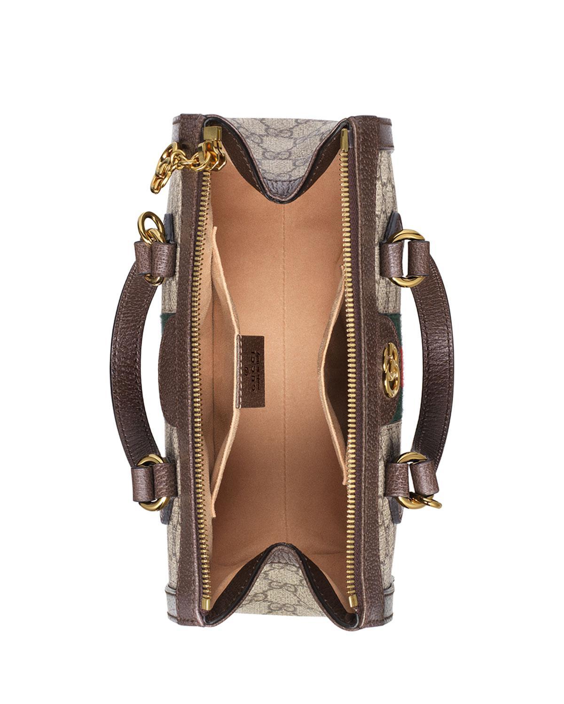 38ec1a2b4e65 Lyst - Gucci Ophidia Small GG Supreme Canvas Tote Bag in Natural - Save 17%