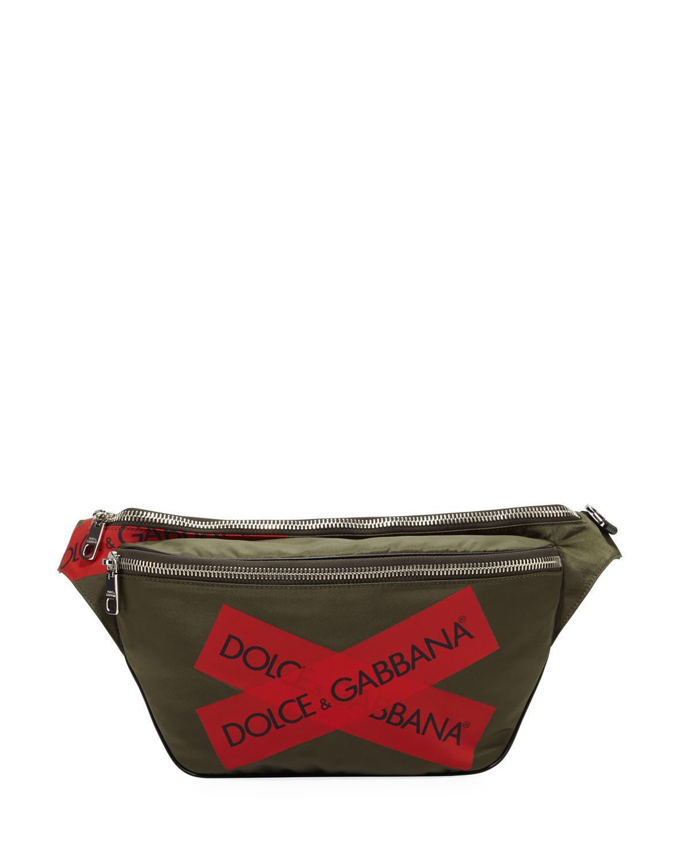 a77a379a87ad Dolce & Gabbana - Green Men's Logo Fanny Pack for Men - Lyst. View  fullscreen