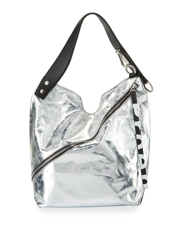Lyst - Proenza Schouler Medium Soft Metallic Hobo Bag in Metallic 51fc6620fa87d